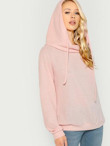 Solid Hooded Sweatshirts