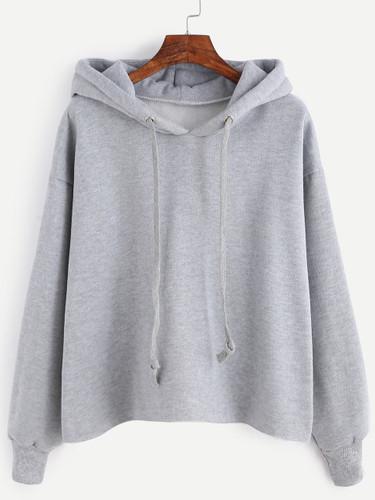 Drawstring Hooded Sweatshirt