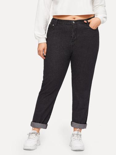 Plus Rolled Hem Jeans