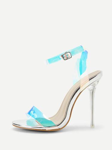 Iridescent Slingback Stiletto Heels