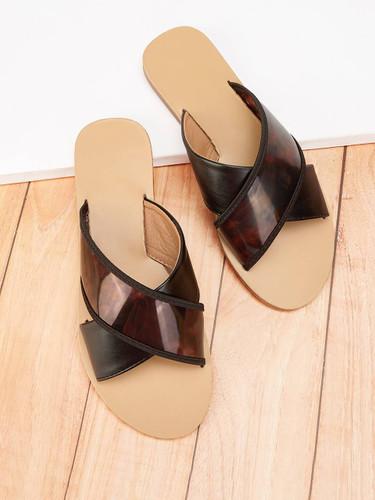 Criss Cross Flat Slippers