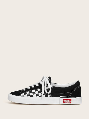 Gingham Print Canvas Sneakers