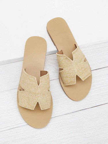 Cut Out Flat Slippers