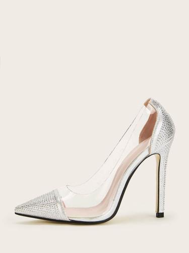 Transparent Point Toe Stiletto Heels