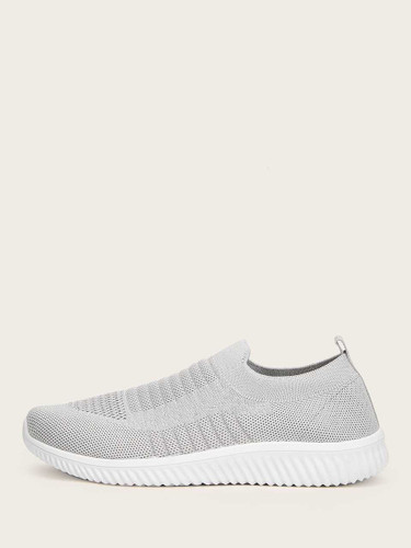 Slip On Knit Trainers