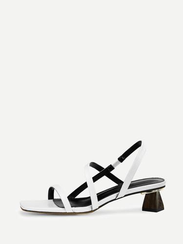 Criss Cross Chunky Heels