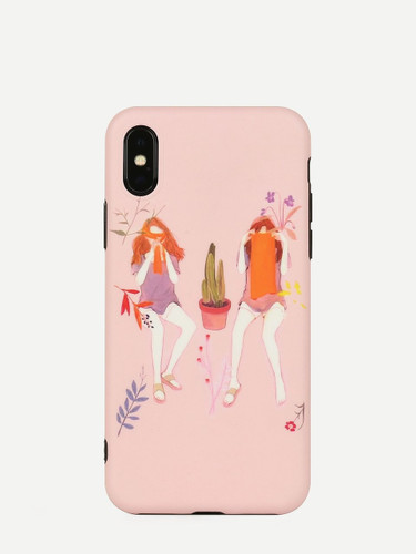 Girls Pattern iPhone Case - ONE COLOR