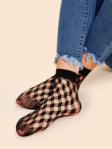Hollow-out Ankle Socks