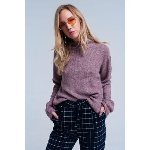 Soft knit lilac sweater