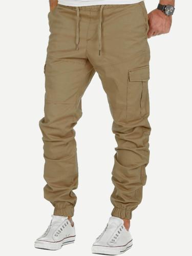 Men Pocket Drawstring Pants