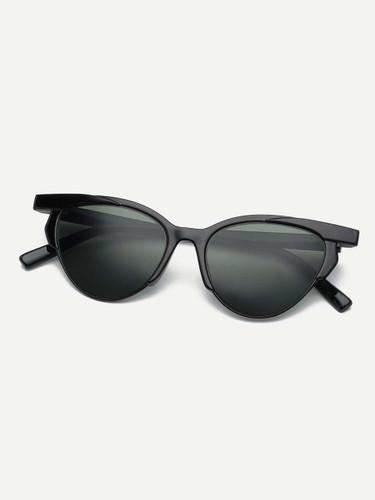 Men Browline Frame Sunglasses