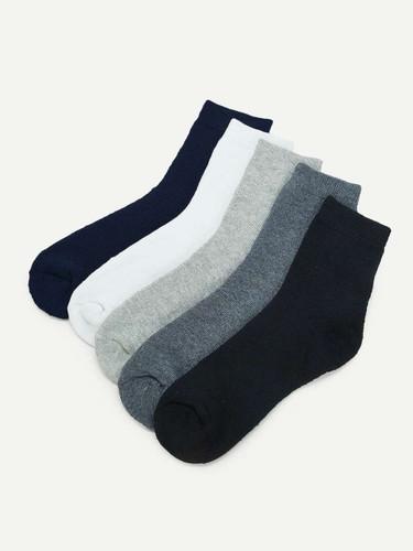 Men Plain Socks 5pairs