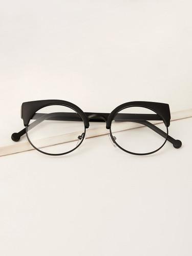 Men Browline Frame Glasses