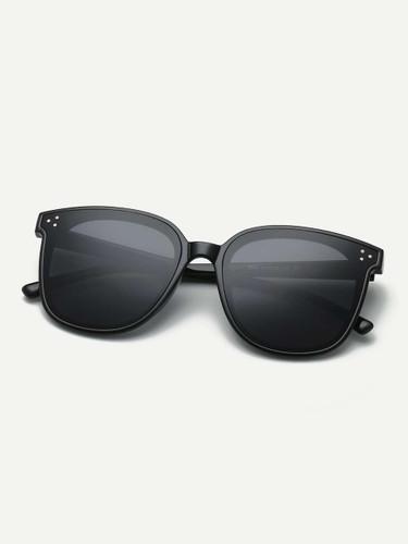 Men Plain Frame Metal Detail Sunglasses