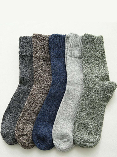 Men Cable Knit Socks 5pairs
