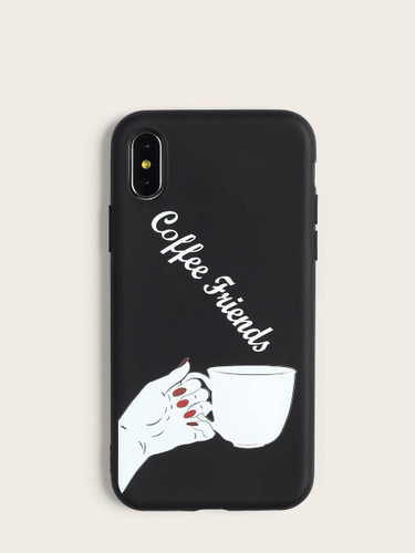 Letter & Hand Pattern iPhone Case - ONE COLOR