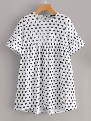 Polka Dot Smock Dress