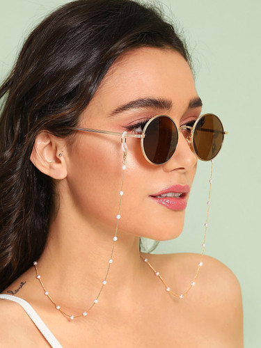 Faux Pearl Rosary Glasses Chain