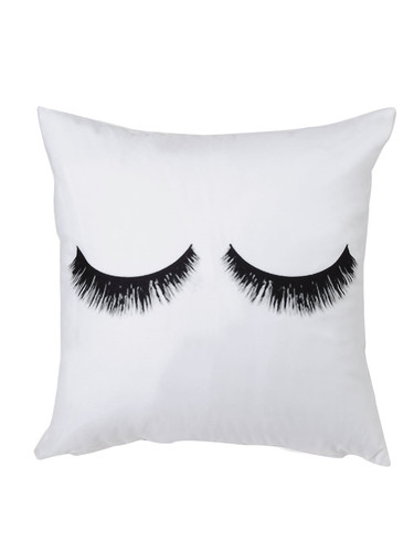 Eyelash Print Cushion Cover (v. White)