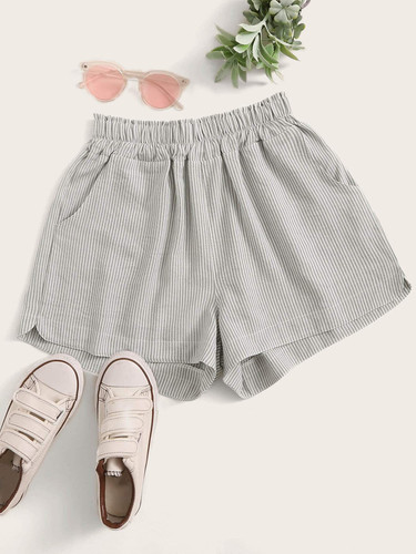 Elastic Waist Striped Shorts (v. 43ed175c)