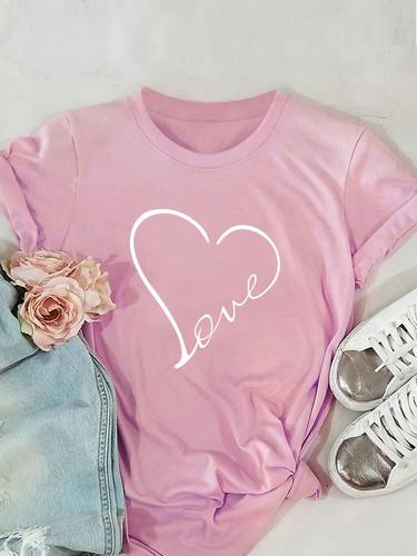 Heart Print Tee