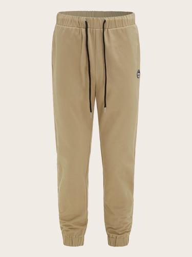 Men Drawstring Waist Patch Detail Cargo Trousers