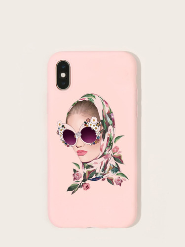 Figure Pattern iPhone Case (v. ONE COLOR)