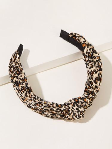 Leopard Pattern Knot Decor Headband (v. Multicolor)
