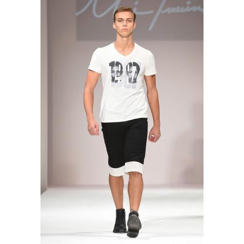Men's Black & White Shorts