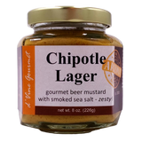Chipotle Lager Beer Mustard w/ Smoked Sea Salt - 8oz