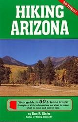 A great guidebook with complete information on what to wear, what to take and safety tips.  Details for 50 great Arizona trails.