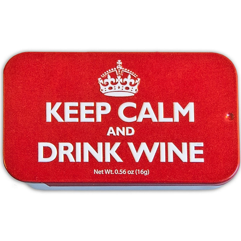 Keep Calm and Drink Wine Mint Tin - 0.56oz