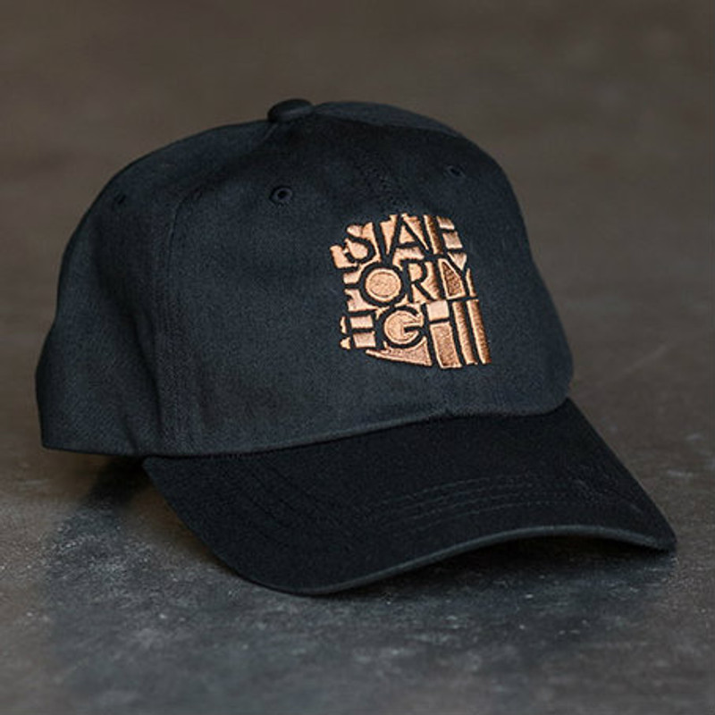 23d32503a7e State Forty Eight - Black   Copper Dad Hat - d Vine Gourmet