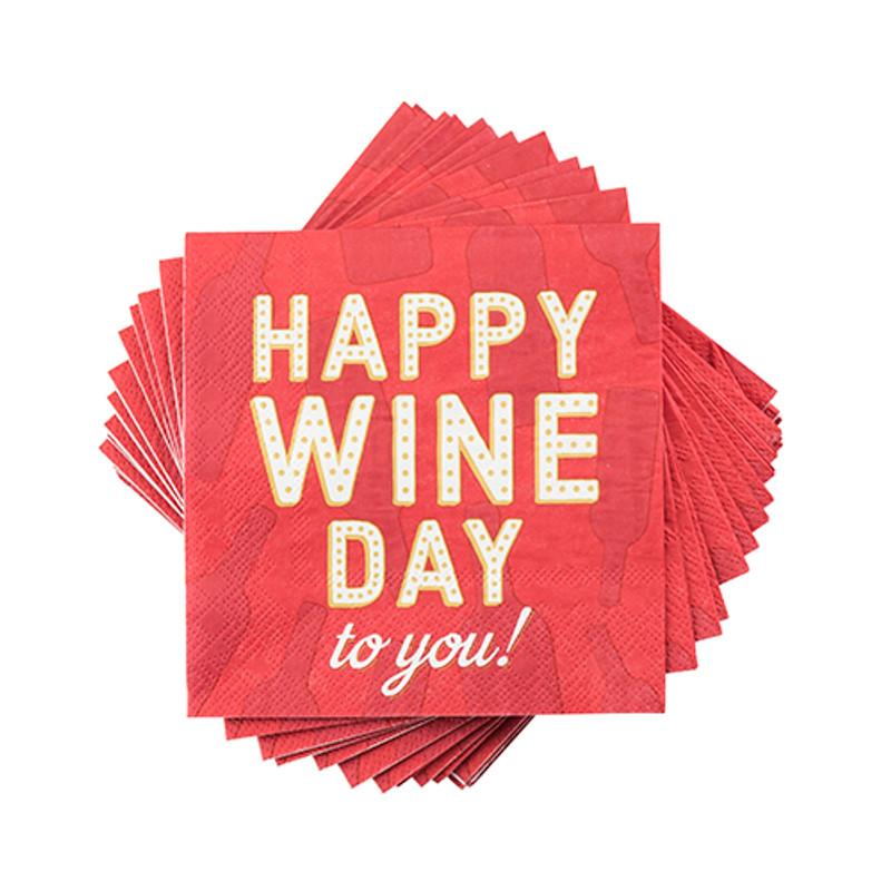 'Happy Wine Day' Napkins