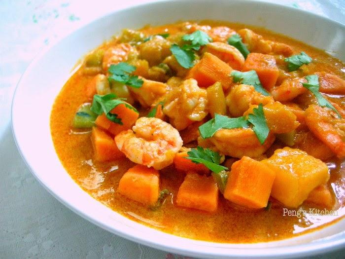 Easy Pumpkin Shrimp Curry