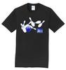 I Am Bowling T-Shirt - Pin Splatter (Blue) - 7 Colors