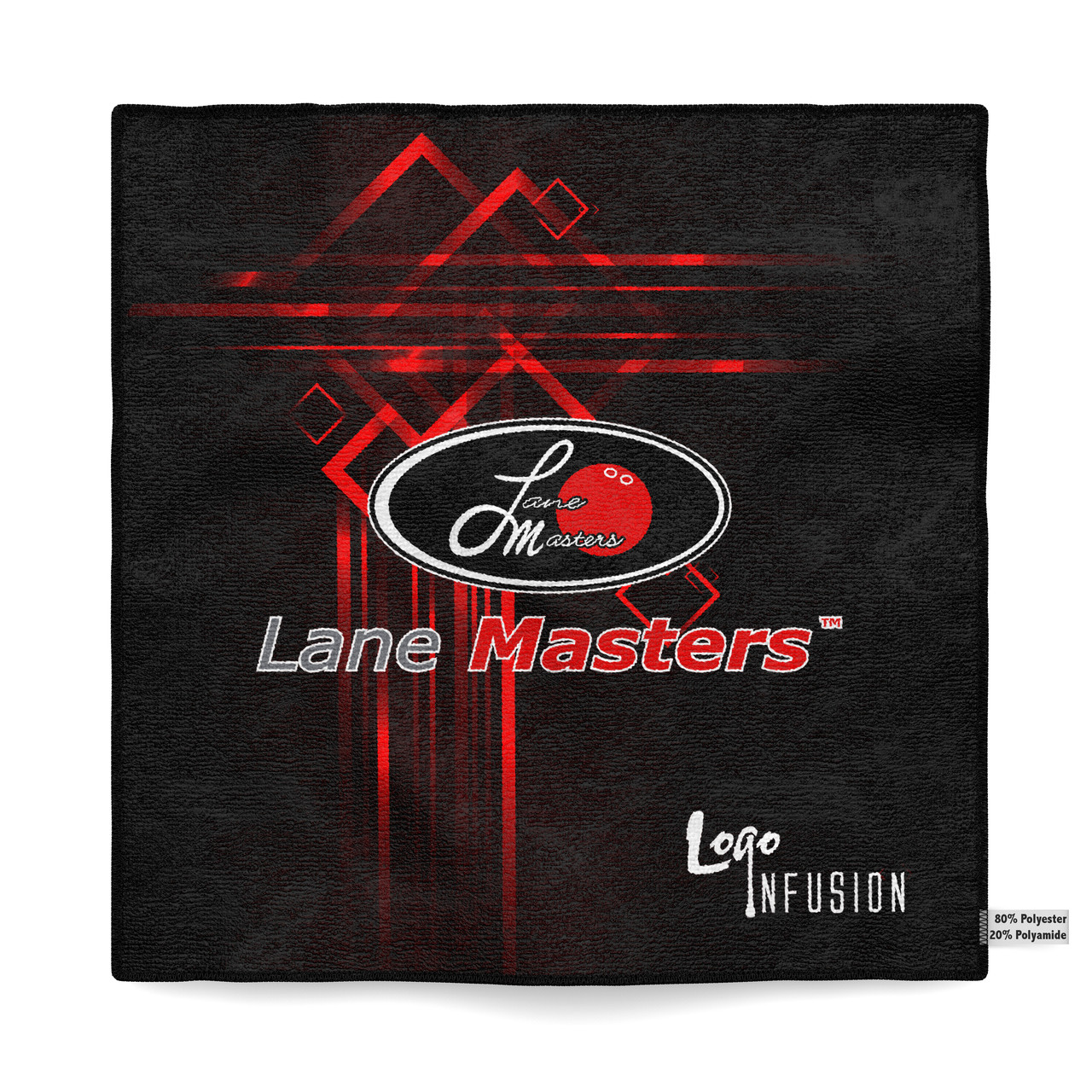 Lane Masters Red Lines Dye Sublimated Towel