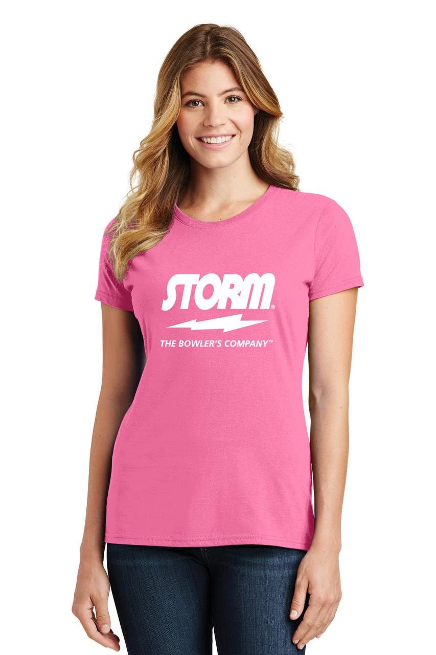Storm - Pink Tee - Ladies Crew