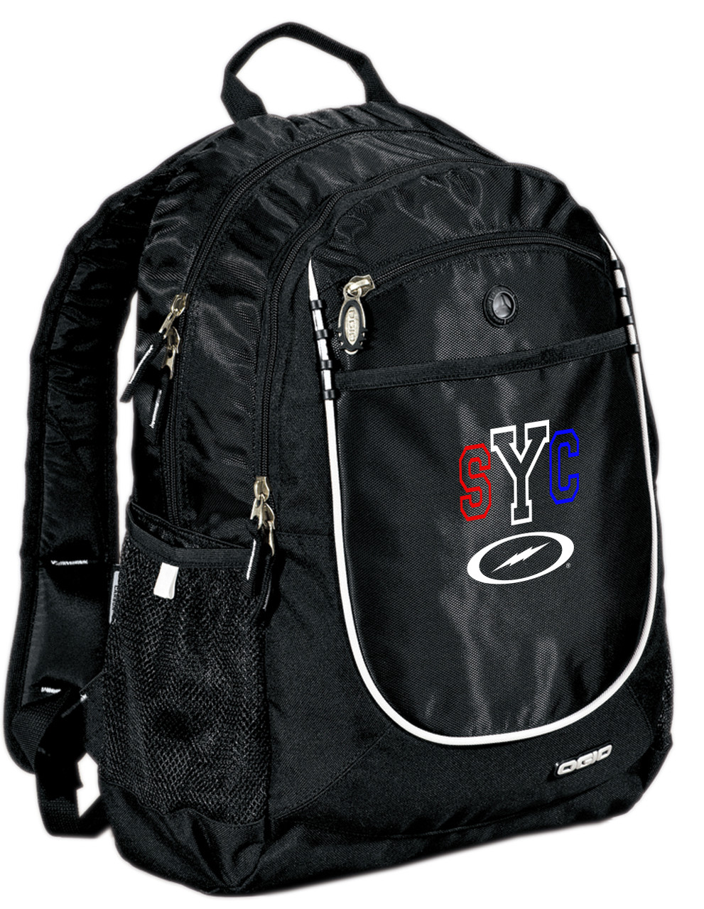 SYC Backpack - Black w/ Red/White/Blue Embroidery
