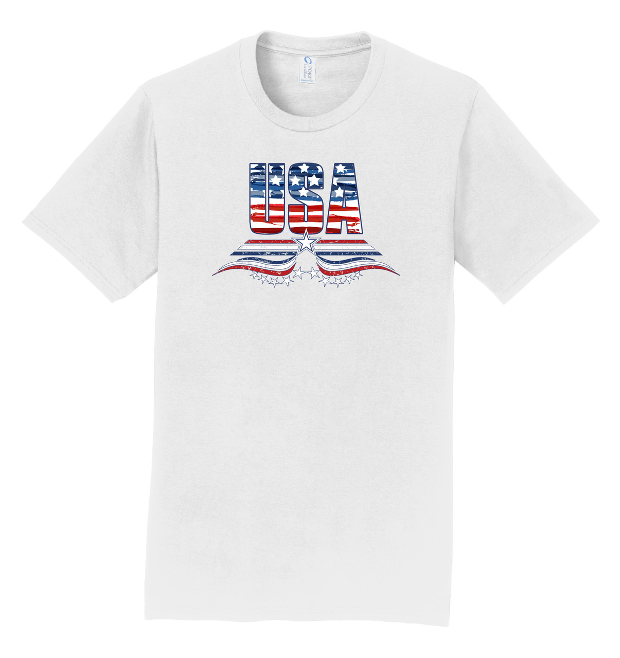 Logo Infusion T-Shirt - White with USA Print
