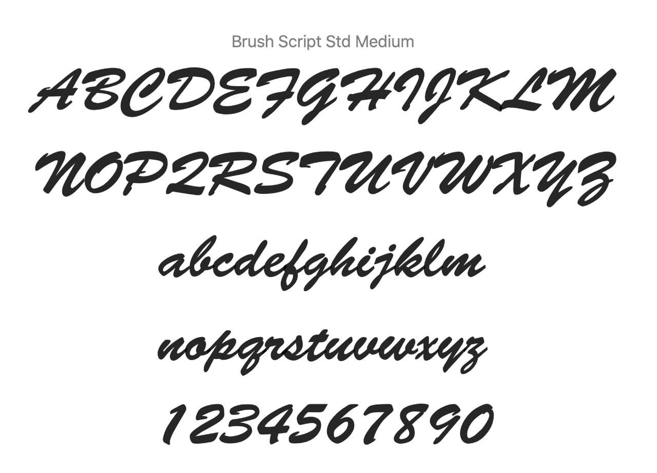 Brush Script Font for WYBT001