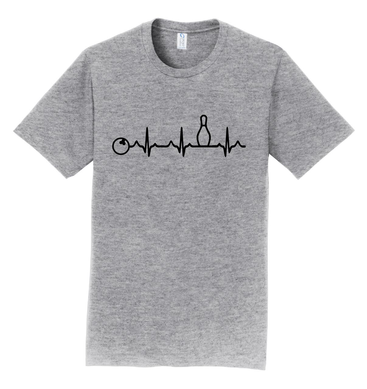 I AM Bowling T-Shirt - Bowling Heartbeat Black Logo - 8 Colors