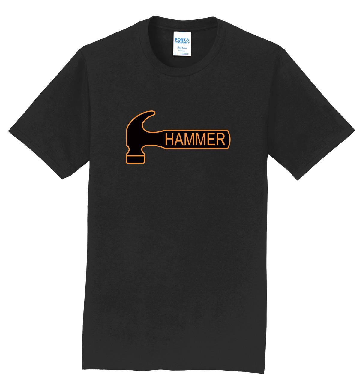 Hammer T-Shirt - Orange Black Logo - 6 Colors - 00DC