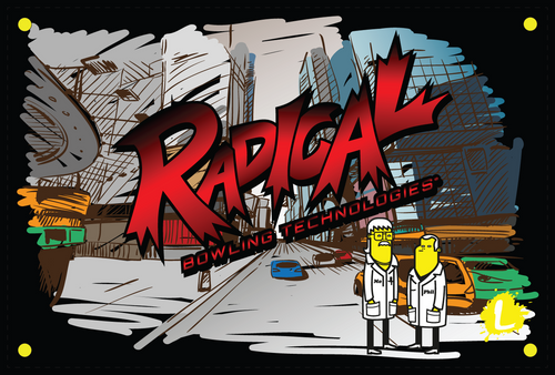 Radical Phil and Mo Cityscape Dye Sublimated Banner