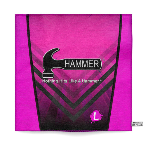 Hammer Flashy Pink Sublimated Towel