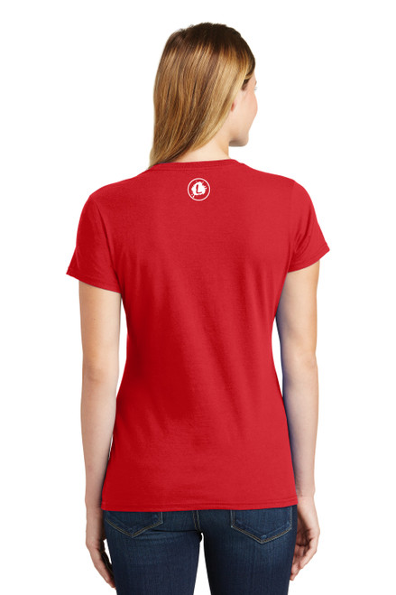 Hammer - Bright Red Tee - Ladies Crew