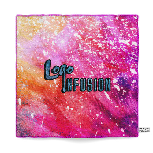 Logo Infusion Pink Dye Sublimated Towel