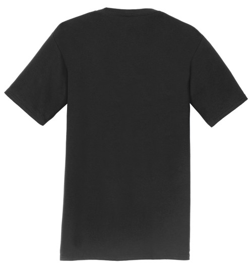 Logo Infusion T-Shirt - Black with Distressed Flag Print