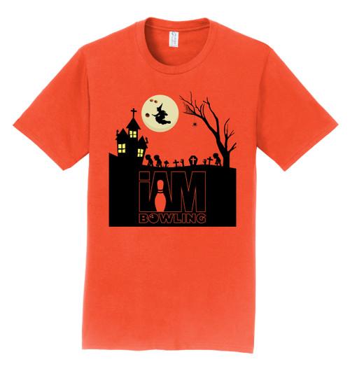 I Am Bowling HALLOWEEN Orange T-Shirt with Logo Print