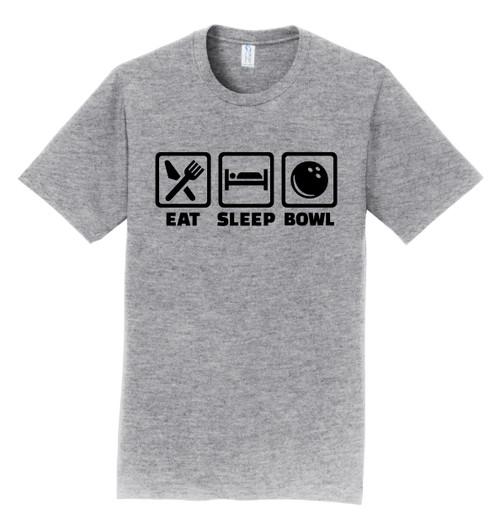 I AM Bowling T-Shirt - Eat Sleep Bowl Black Logo - 7 Colors